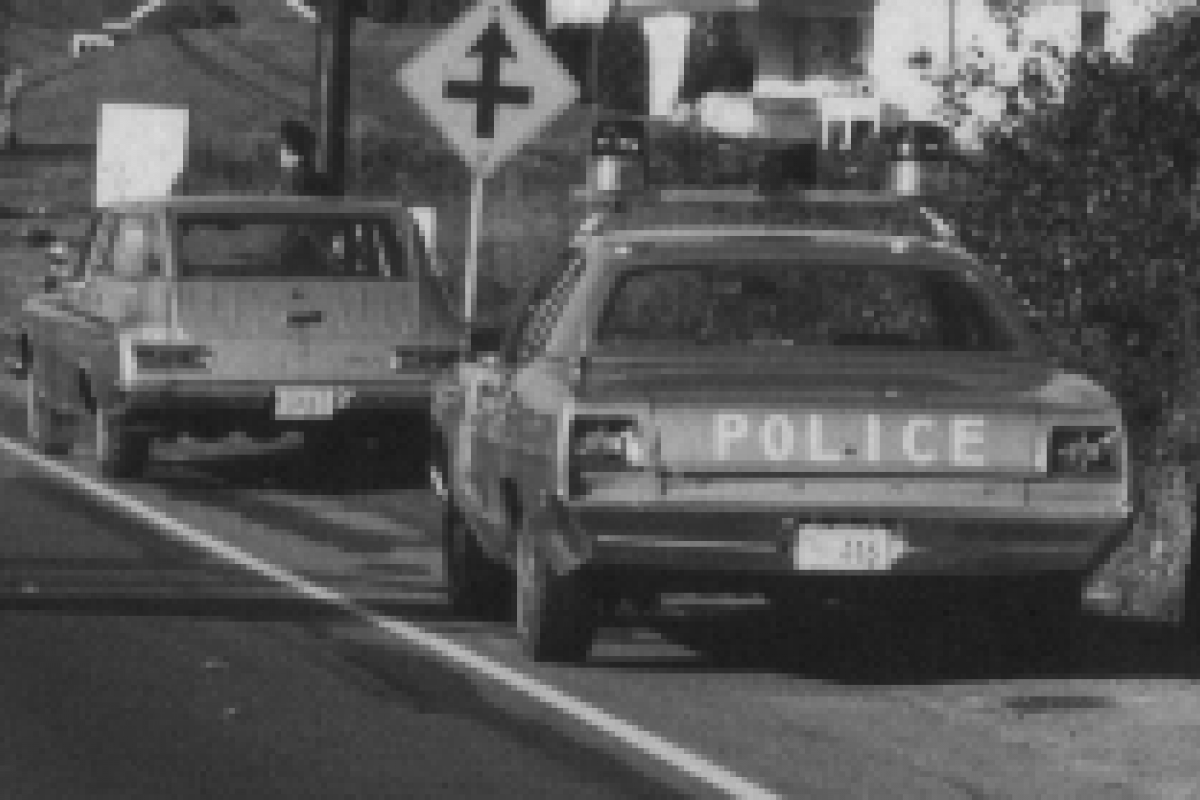 """Fall 1969.  Note the """"SPD1"""" license plate."""
